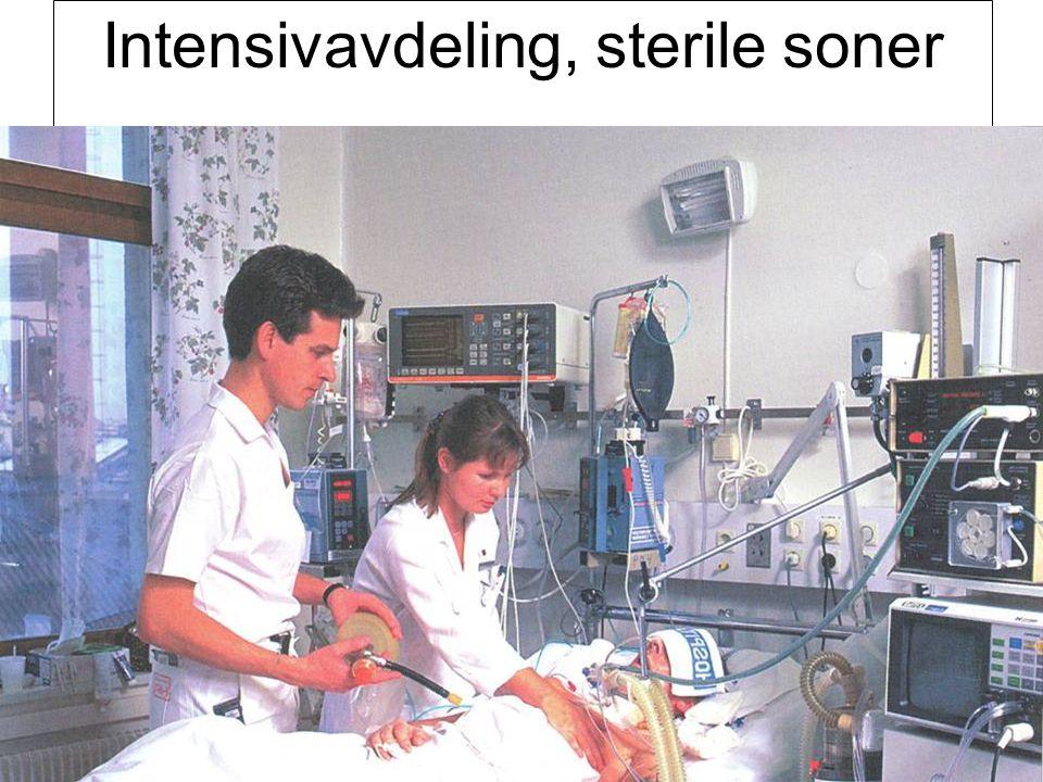 Intensivavdeling, sterile soner