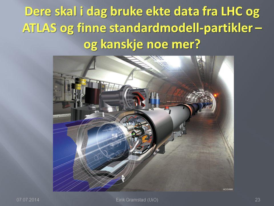 Dere skal i dag bruke ekte data fra LHC og ATLAS og finne standardmodell-partikler – og kanskje noe mer
