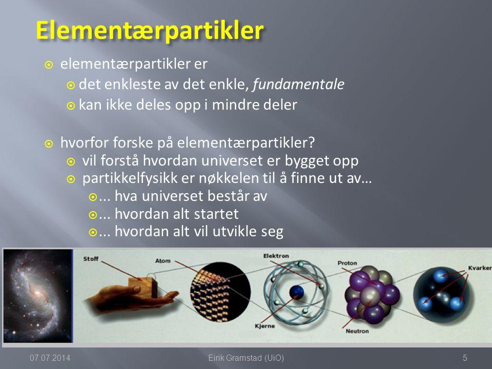 Elementærpartikler elementærpartikler er