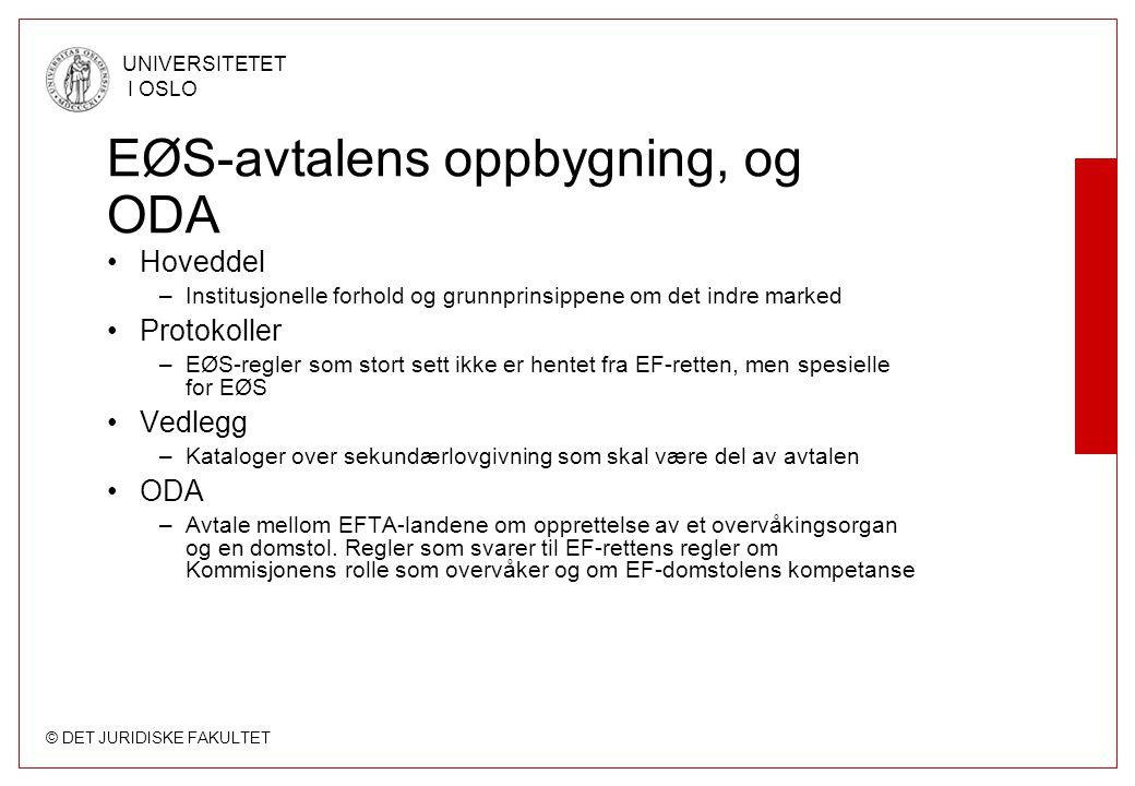 EØS-avtalens oppbygning, og ODA