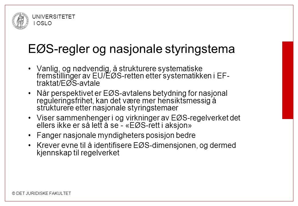 EØS-regler og nasjonale styringstema