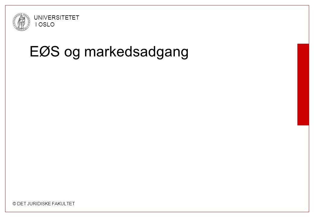 EØS og markedsadgang