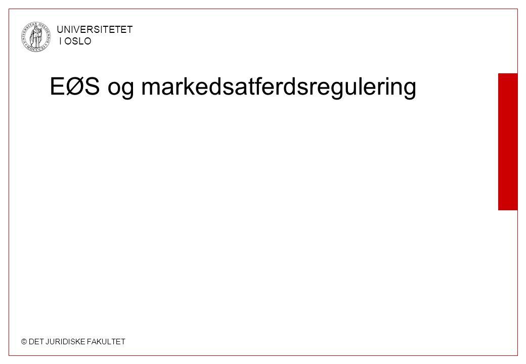 EØS og markedsatferdsregulering