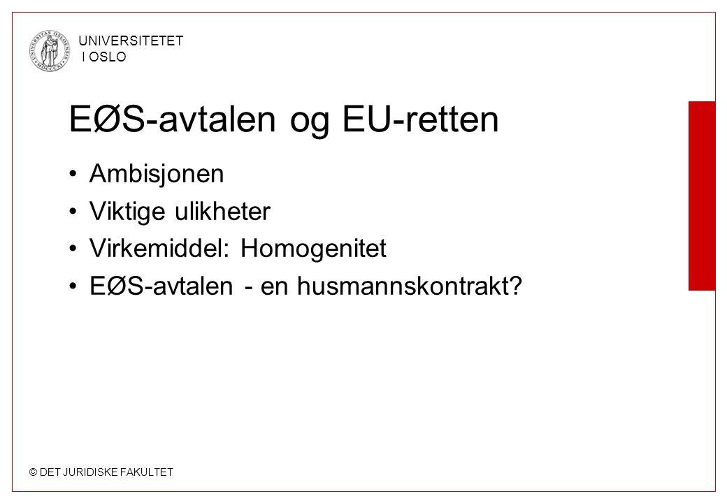 EØS-avtalen og EU-retten