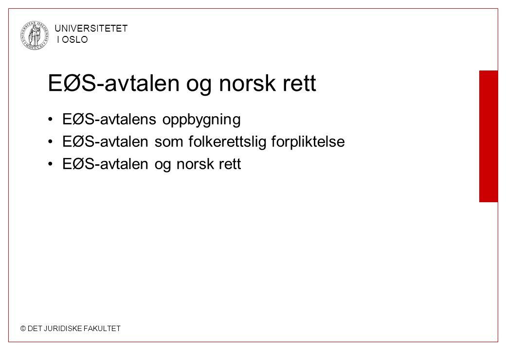 EØS-avtalen og norsk rett