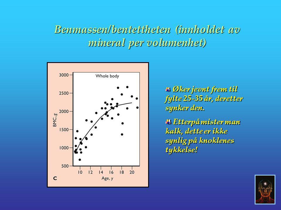 Benmassen/bentettheten (innholdet av mineral per volumenhet)
