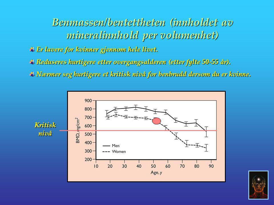 Benmassen/bentettheten (innholdet av mineralinnhold per volumenhet)