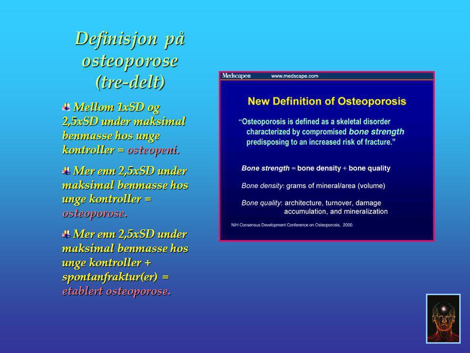 Definisjon på osteoporose (tre-delt)