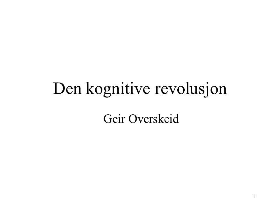 Den kognitive revolusjon