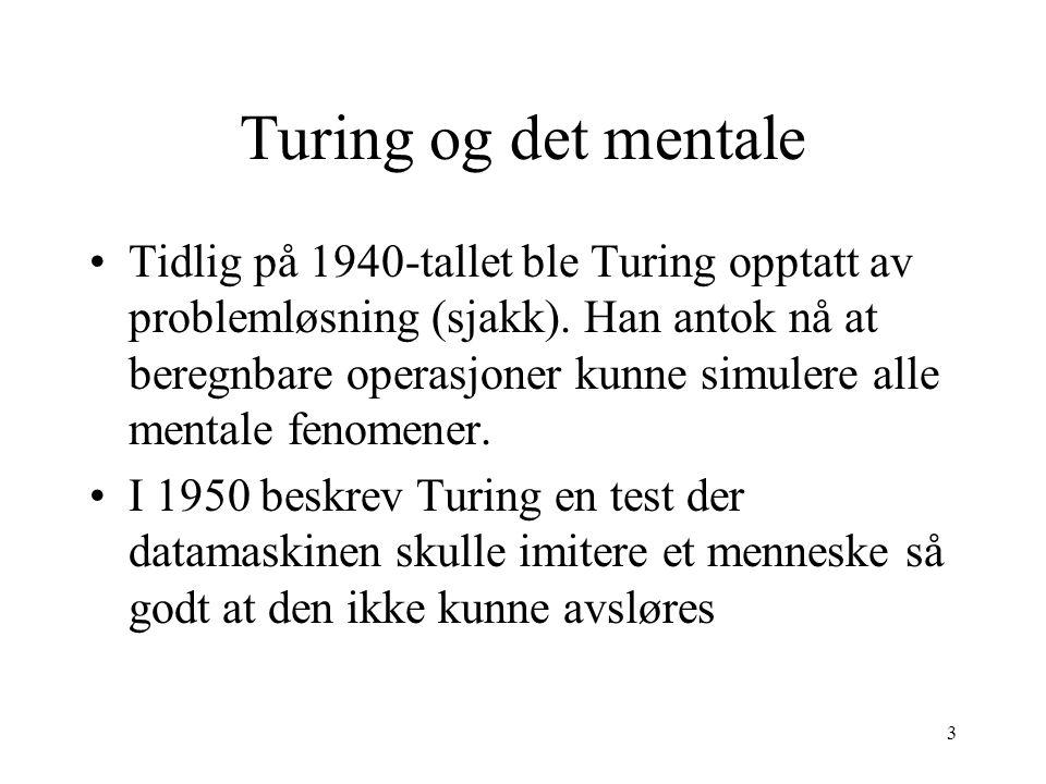 Turing og det mentale