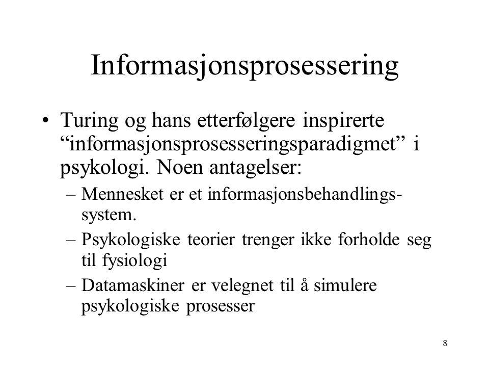 Informasjonsprosessering
