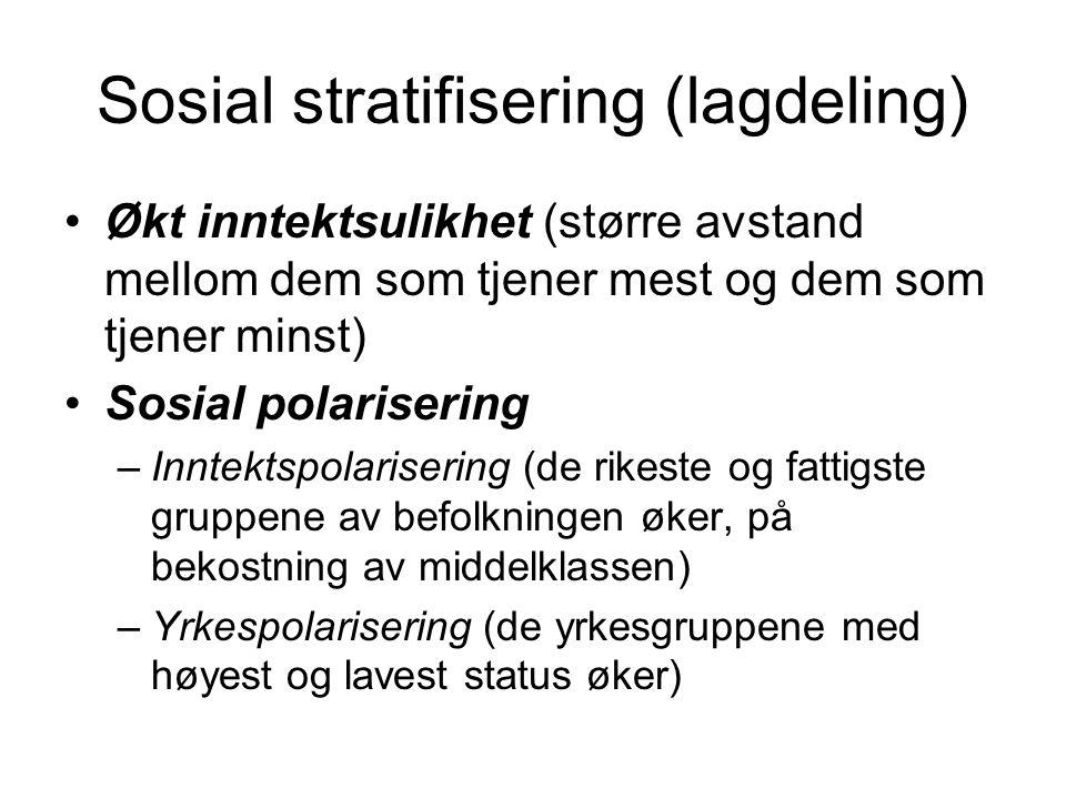 Sosial stratifisering (lagdeling)