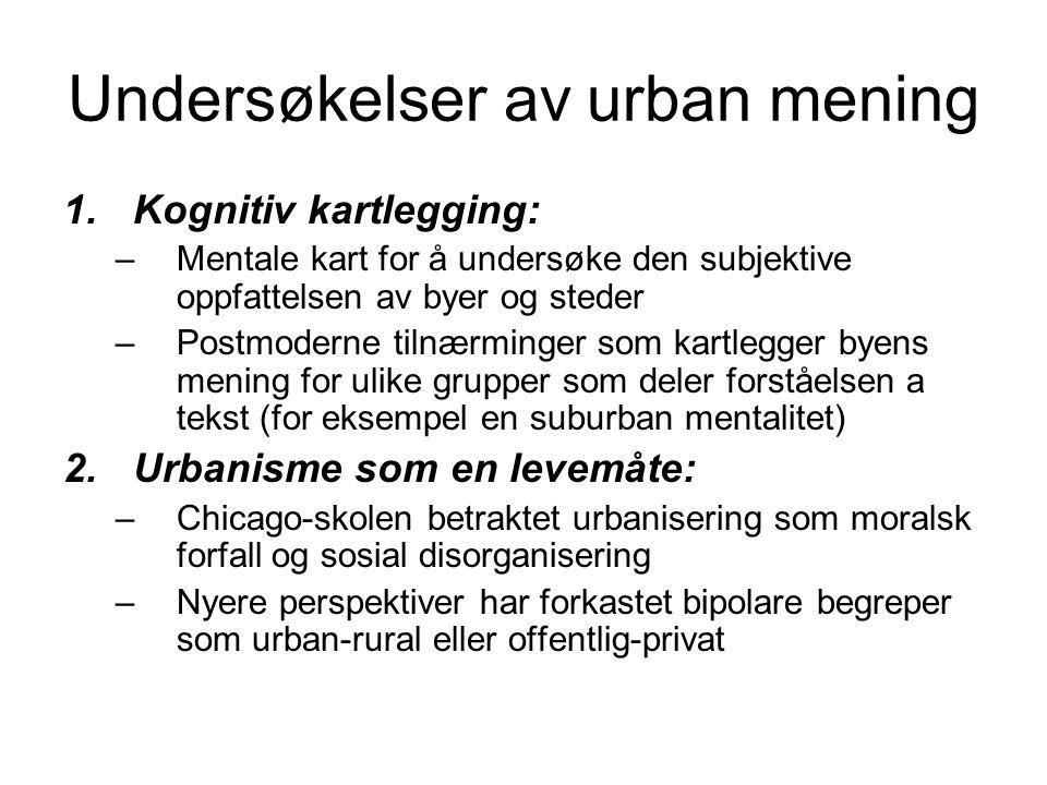 Undersøkelser av urban mening