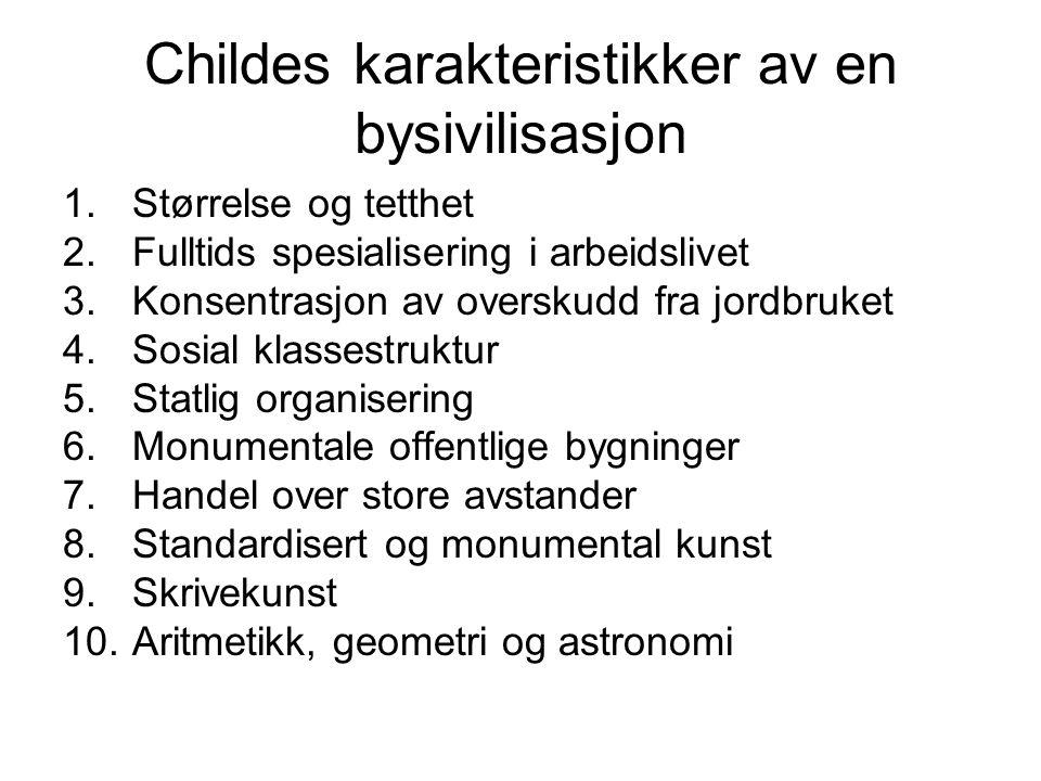 Childes karakteristikker av en bysivilisasjon