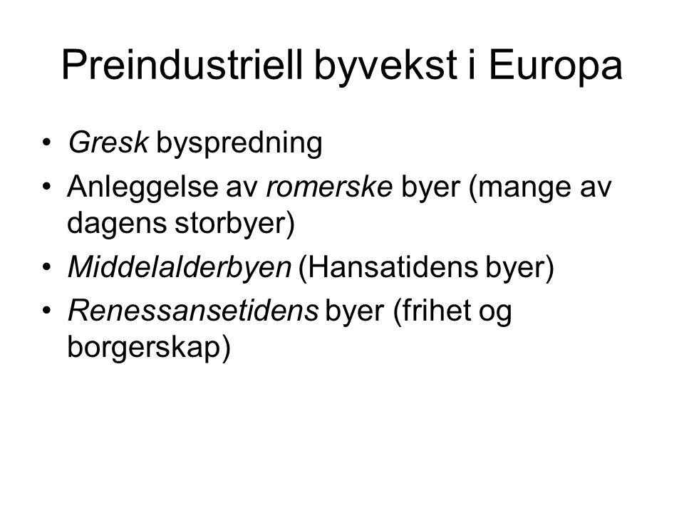 Preindustriell byvekst i Europa