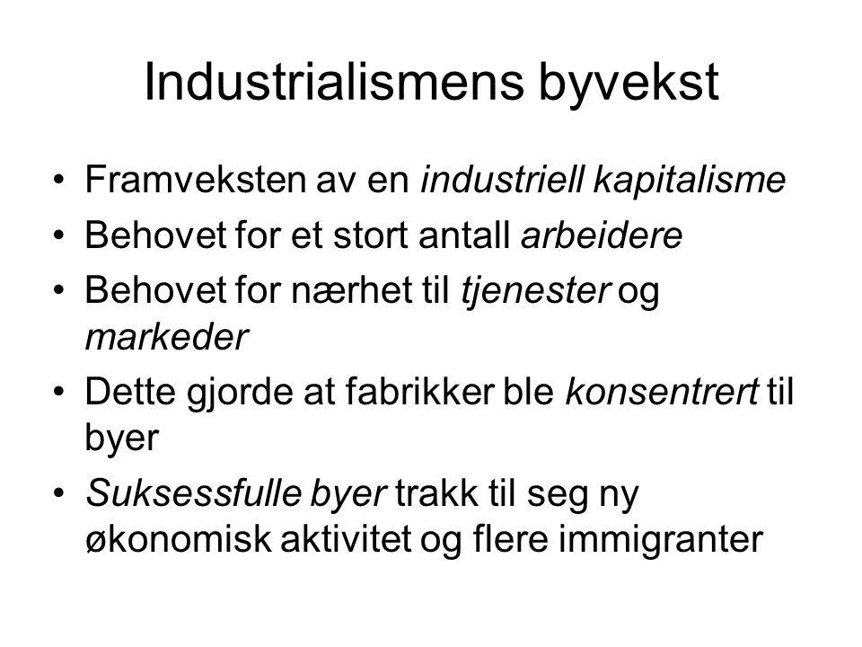 Industrialismens byvekst