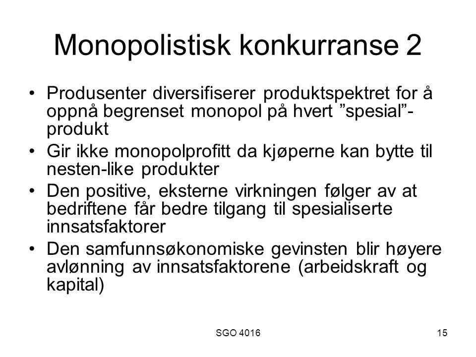 Monopolistisk konkurranse 2