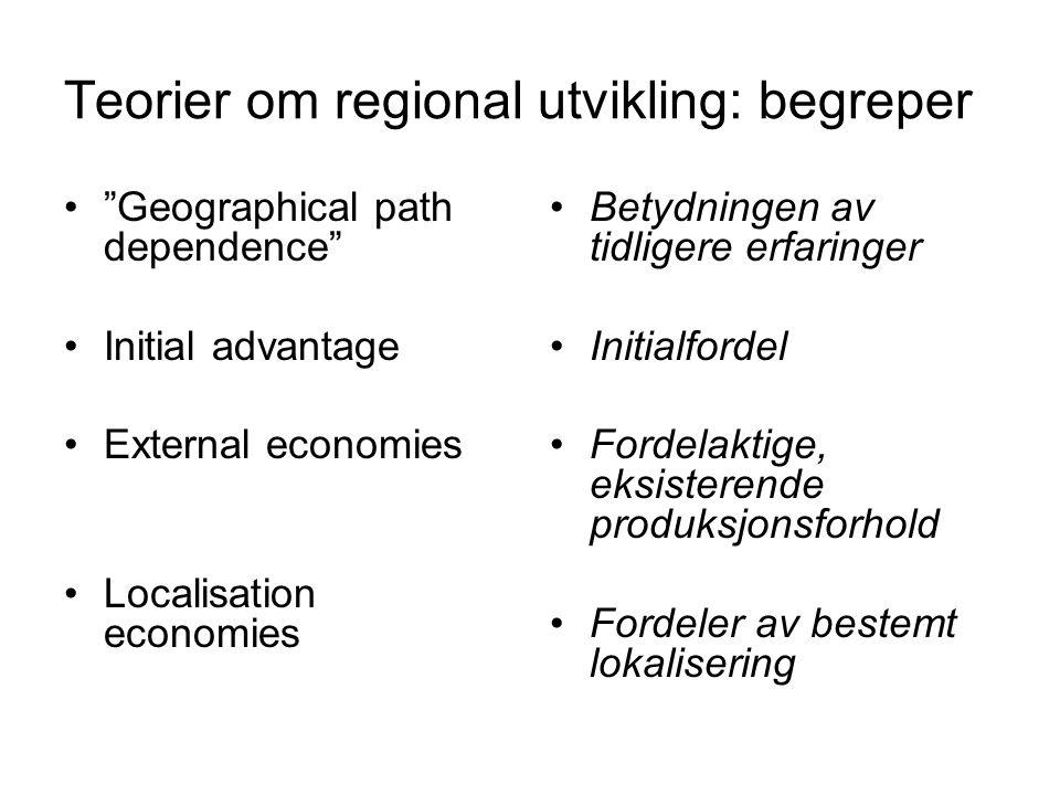 Teorier om regional utvikling: begreper
