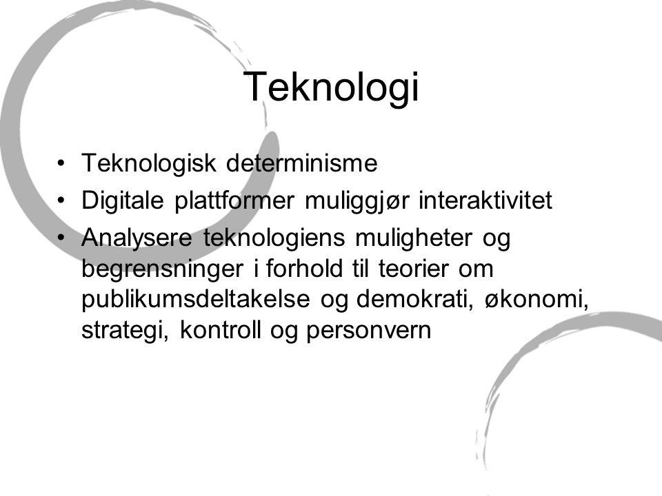 Teknologi Teknologisk determinisme