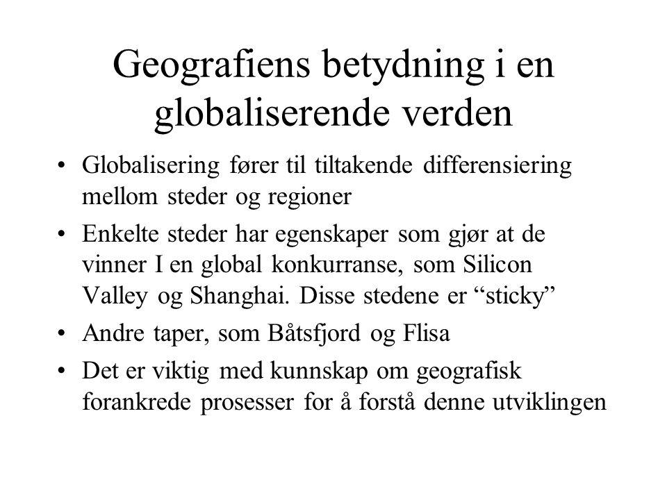 Geografiens betydning i en globaliserende verden