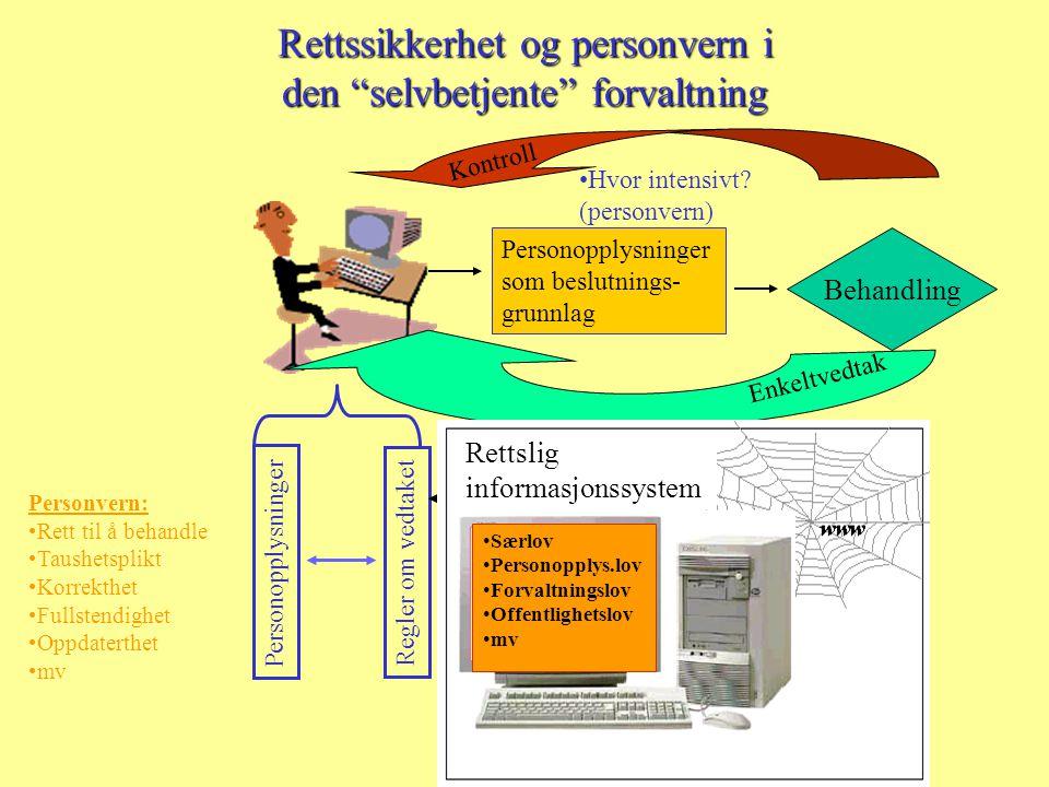 Rettssikkerhet og personvern i den selvbetjente forvaltning