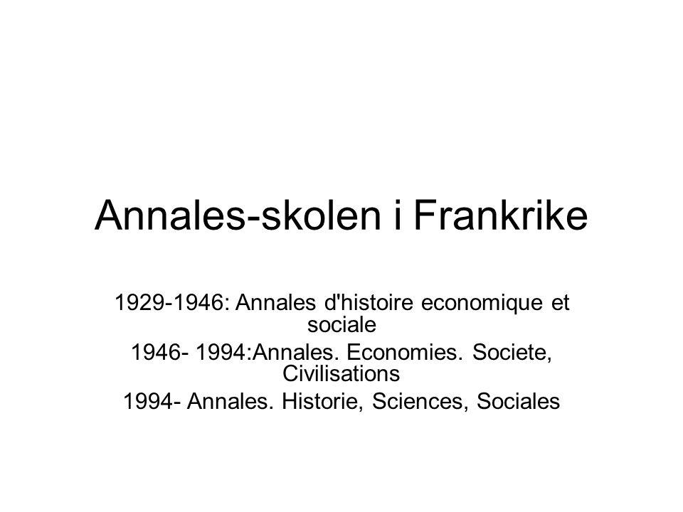 Annales-skolen i Frankrike