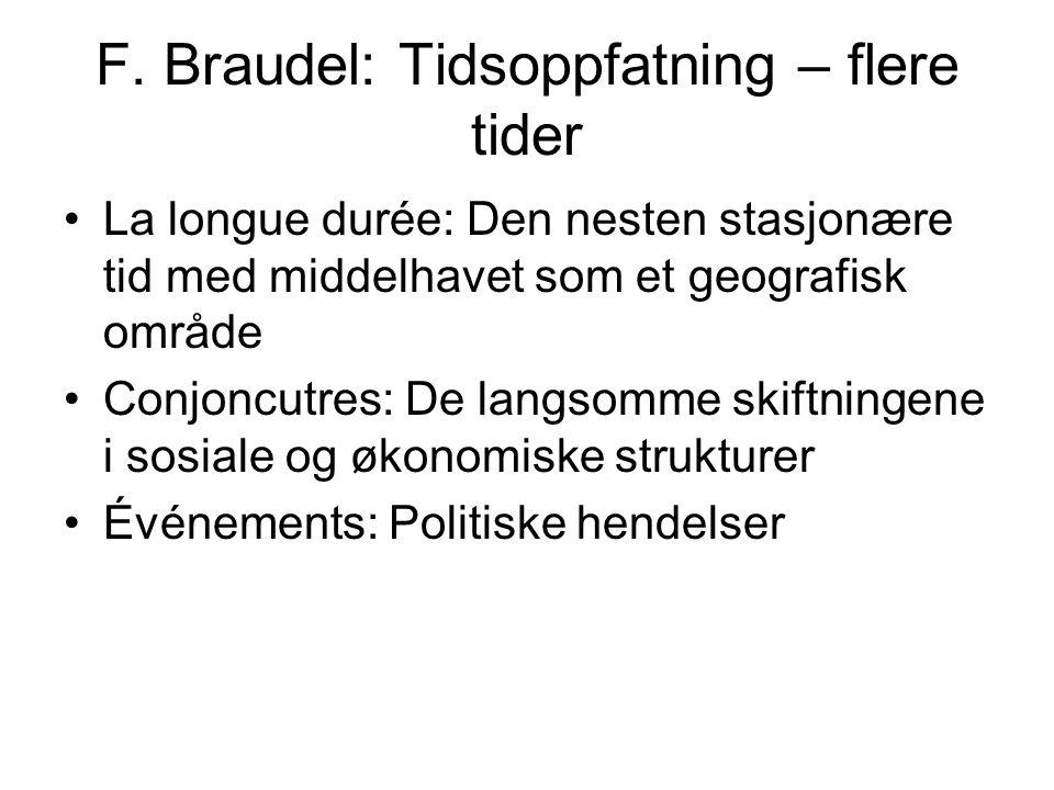 F. Braudel: Tidsoppfatning – flere tider