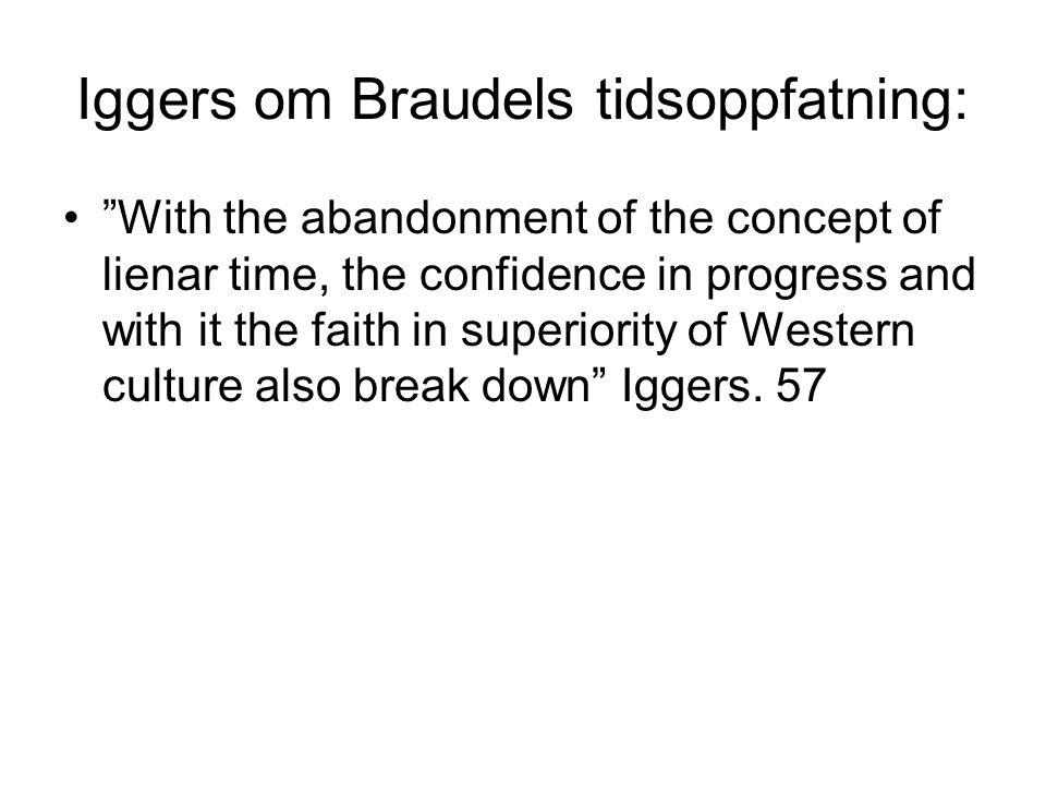 Iggers om Braudels tidsoppfatning: