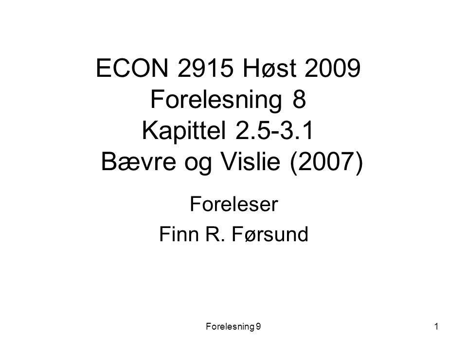 Foreleser Finn R. Førsund