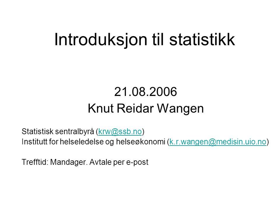 Introduksjon til statistikk