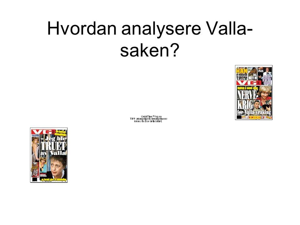 Hvordan analysere Valla-saken