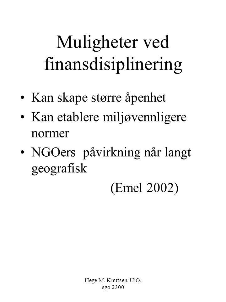 Muligheter ved finansdisiplinering