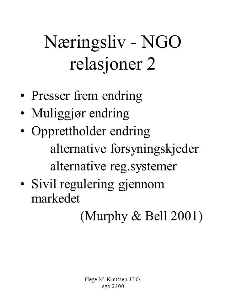 Næringsliv - NGO relasjoner 2