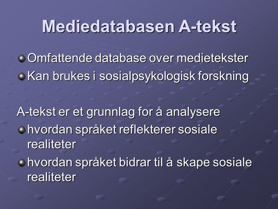 Mediedatabasen A-tekst