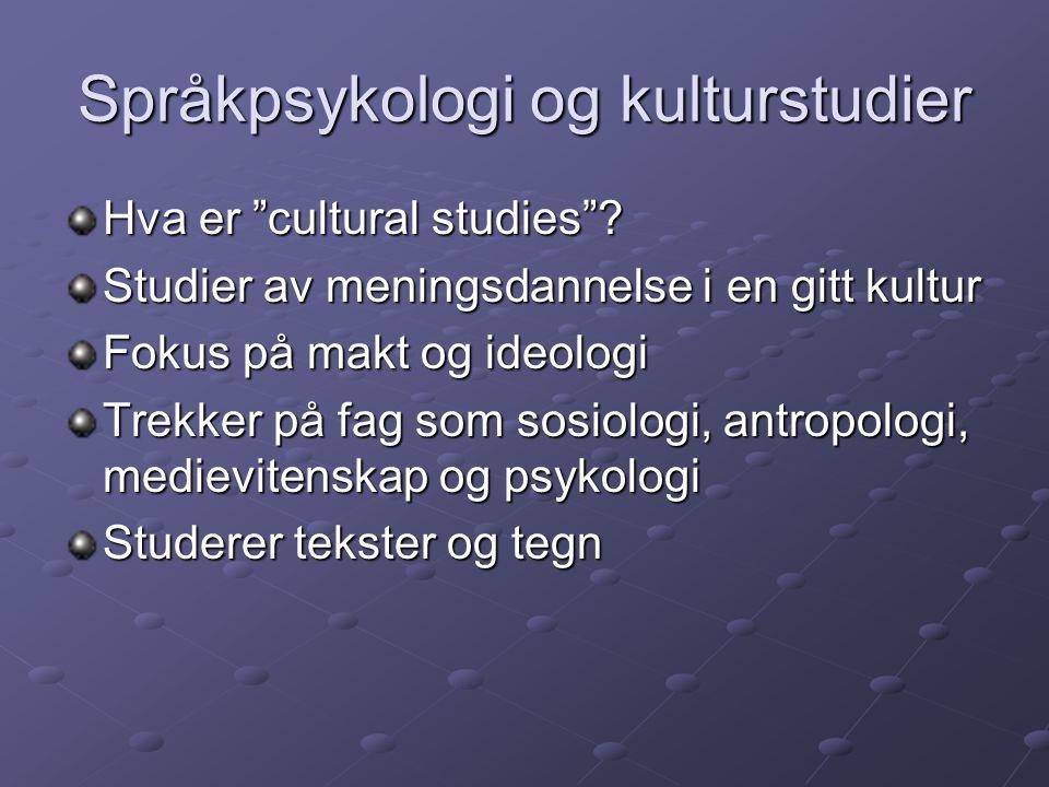 Språkpsykologi og kulturstudier