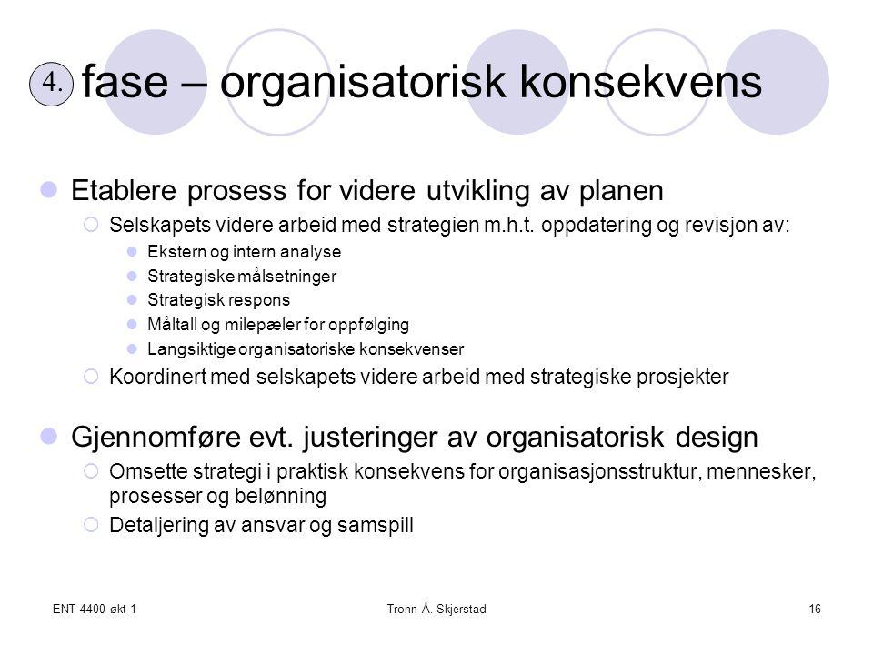 fase – organisatorisk konsekvens