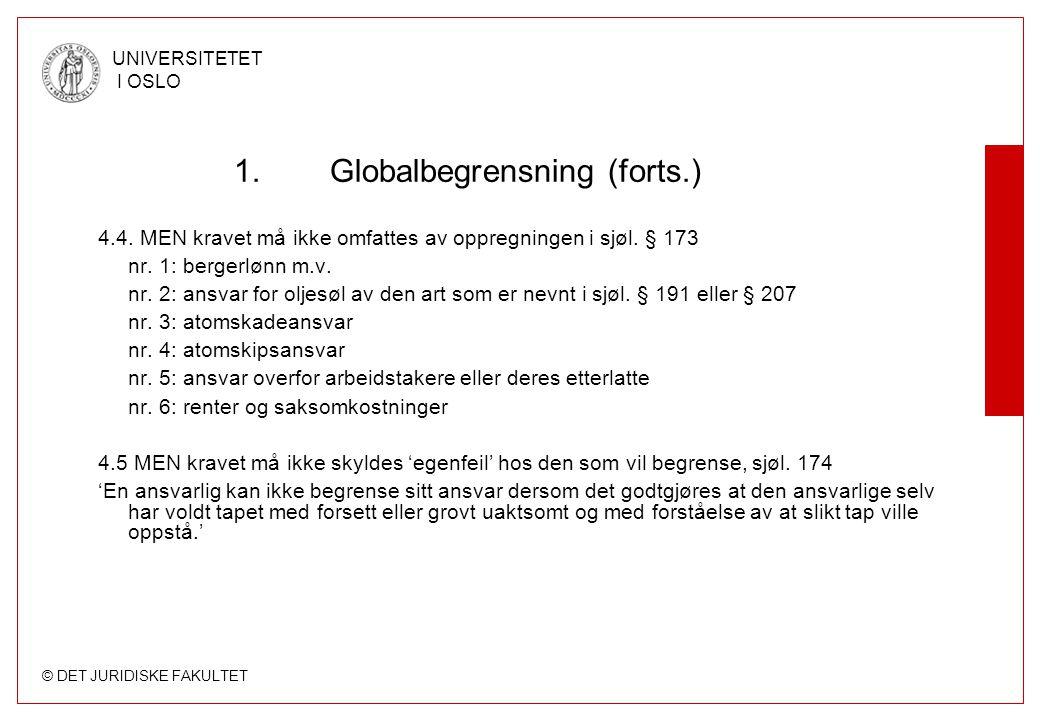 Globalbegrensning (forts.)