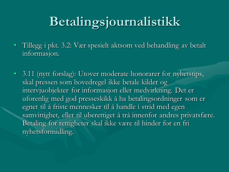 Betalingsjournalistikk