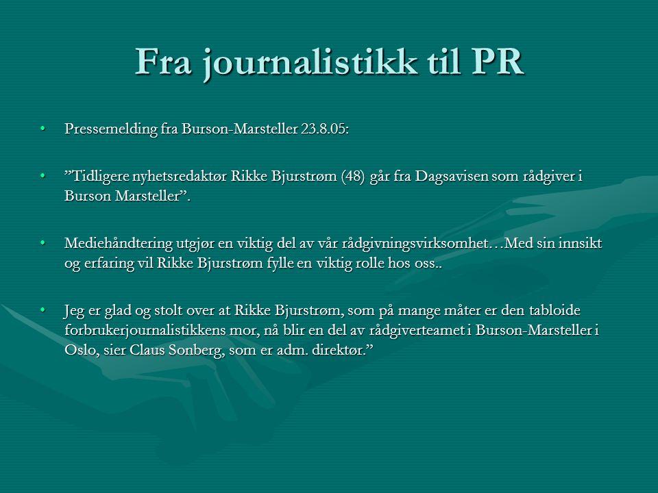 Fra journalistikk til PR