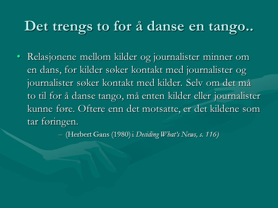 Det trengs to for å danse en tango..