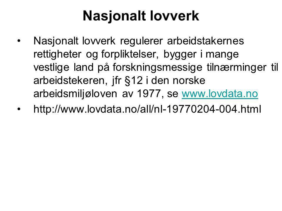 Nasjonalt lovverk
