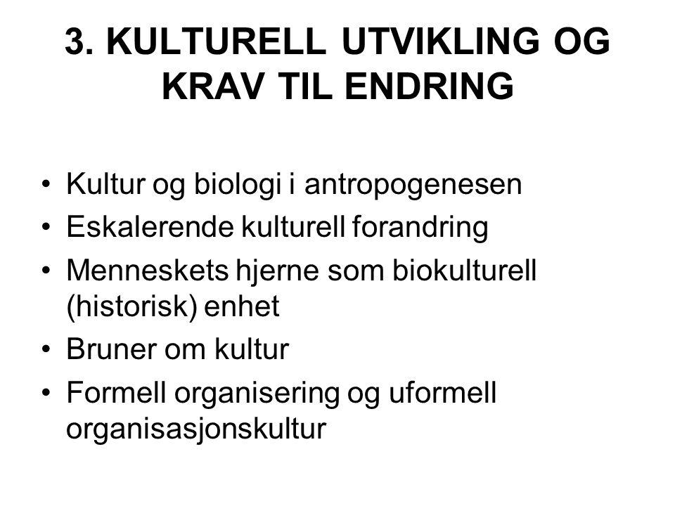 3. KULTURELL UTVIKLING OG KRAV TIL ENDRING