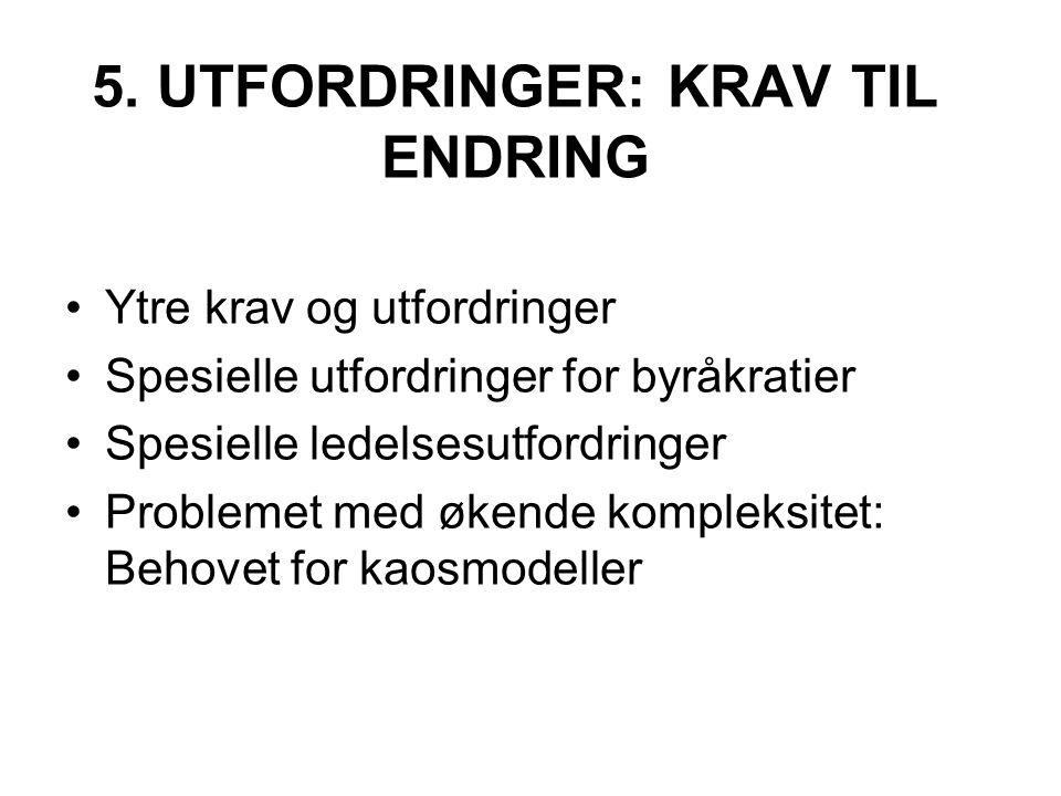 5. UTFORDRINGER: KRAV TIL ENDRING