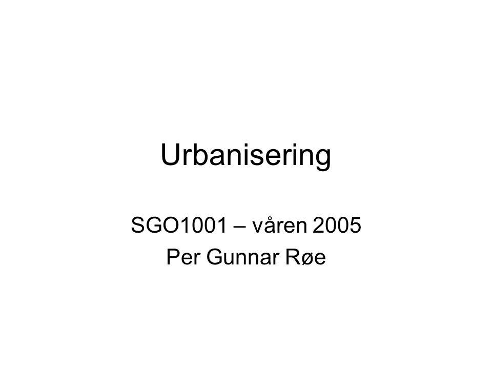 SGO1001 – våren 2005 Per Gunnar Røe