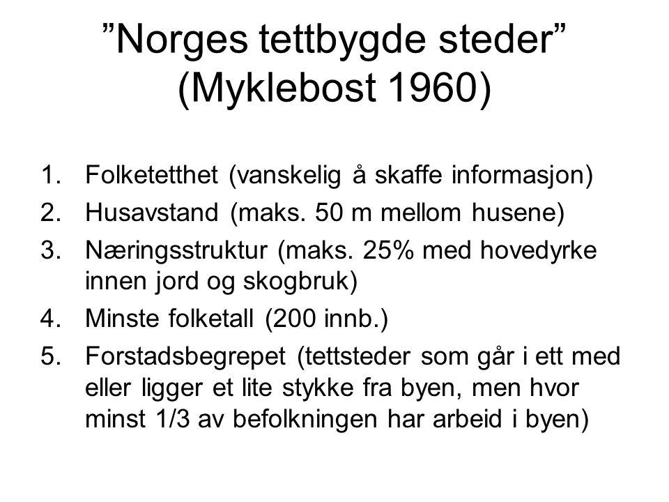 Norges tettbygde steder (Myklebost 1960)