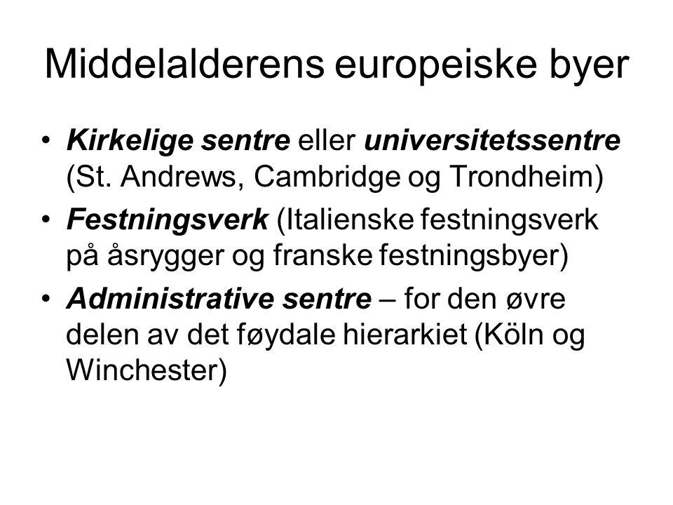 Middelalderens europeiske byer