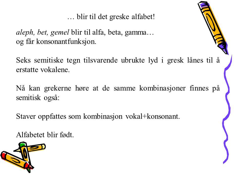 … blir til det greske alfabet!