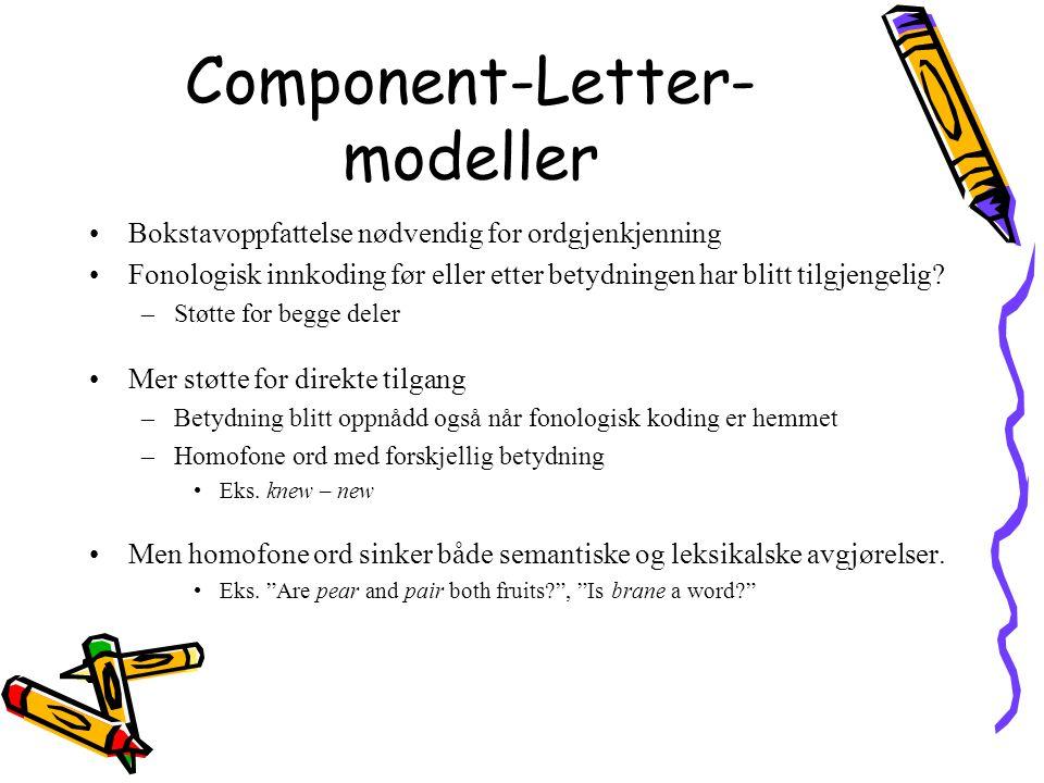 Component-Letter-modeller