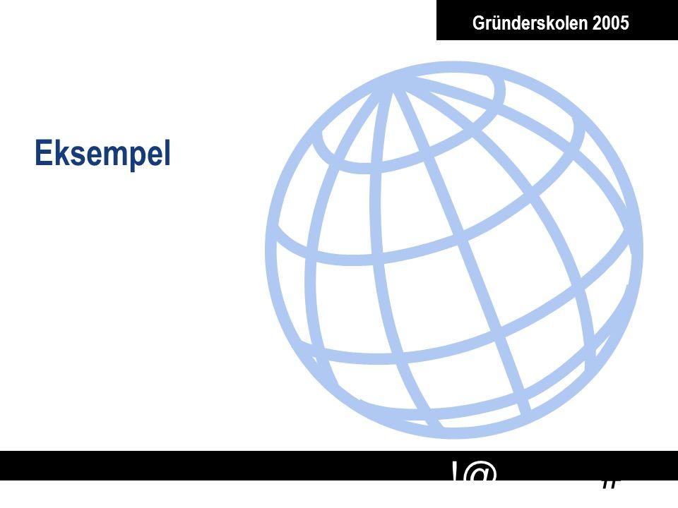 Gründerskolen 2005 Eksempel