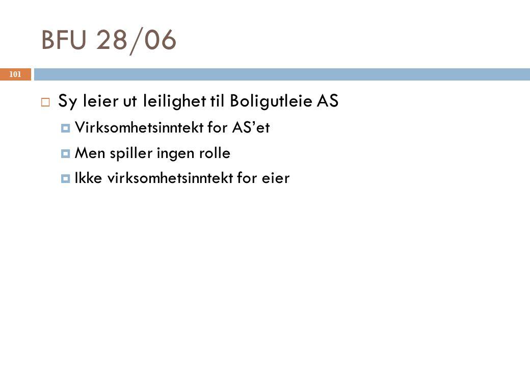 BFU 28/06 Sy leier ut leilighet til Boligutleie AS